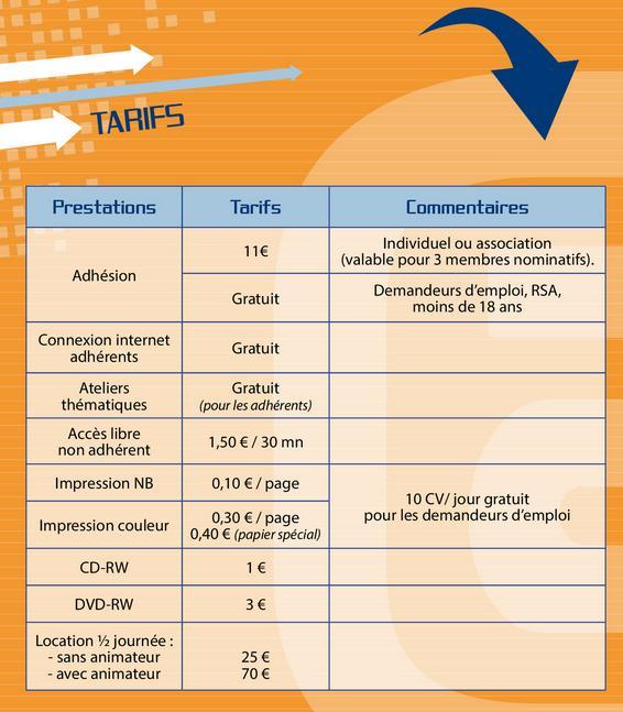 Tarifs 5