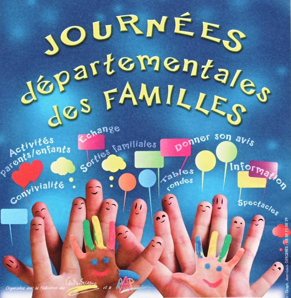 Affiche des Journées Départementales des Familles