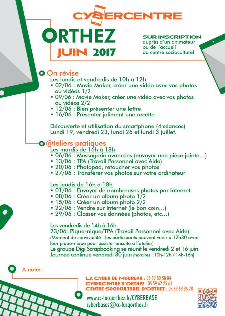 Programme atemiers Cybercentre orthez juin 2017 - Copie