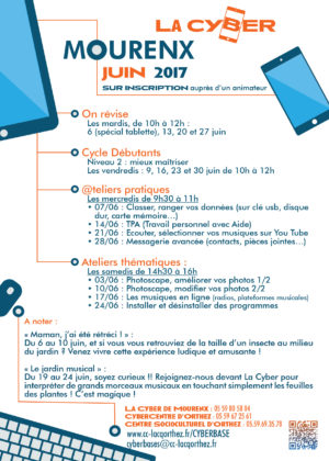Programme ateliers LaCyber Mourenx juin 2017