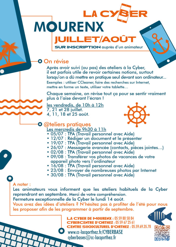 programme LaCyber Mourenx juillet août