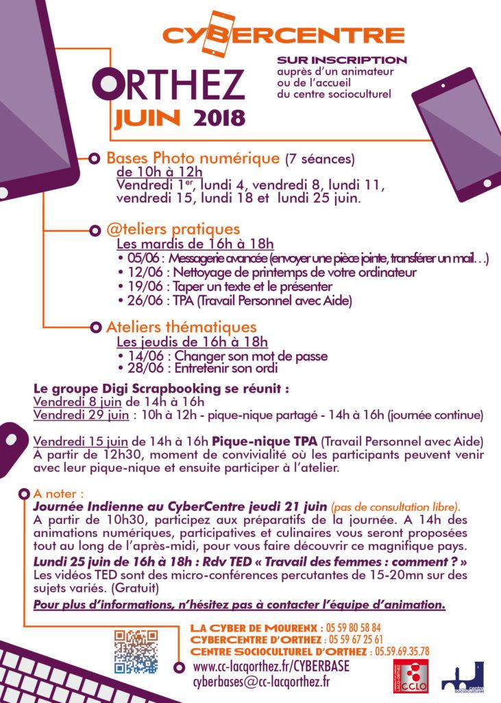 Ateliers et activités du mois de juin 2018 - Orthez