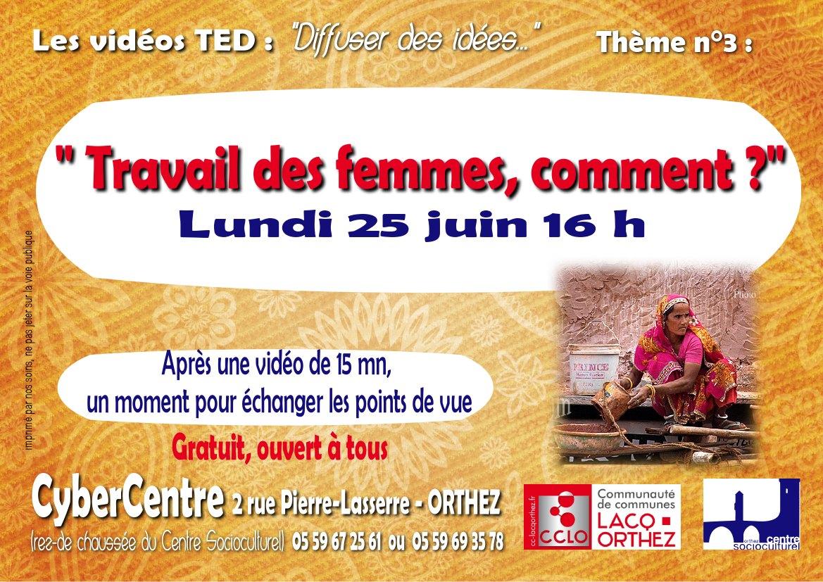 Rdv TEDx : travail des femmes