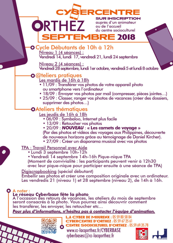 Ateliers septembre Orthez