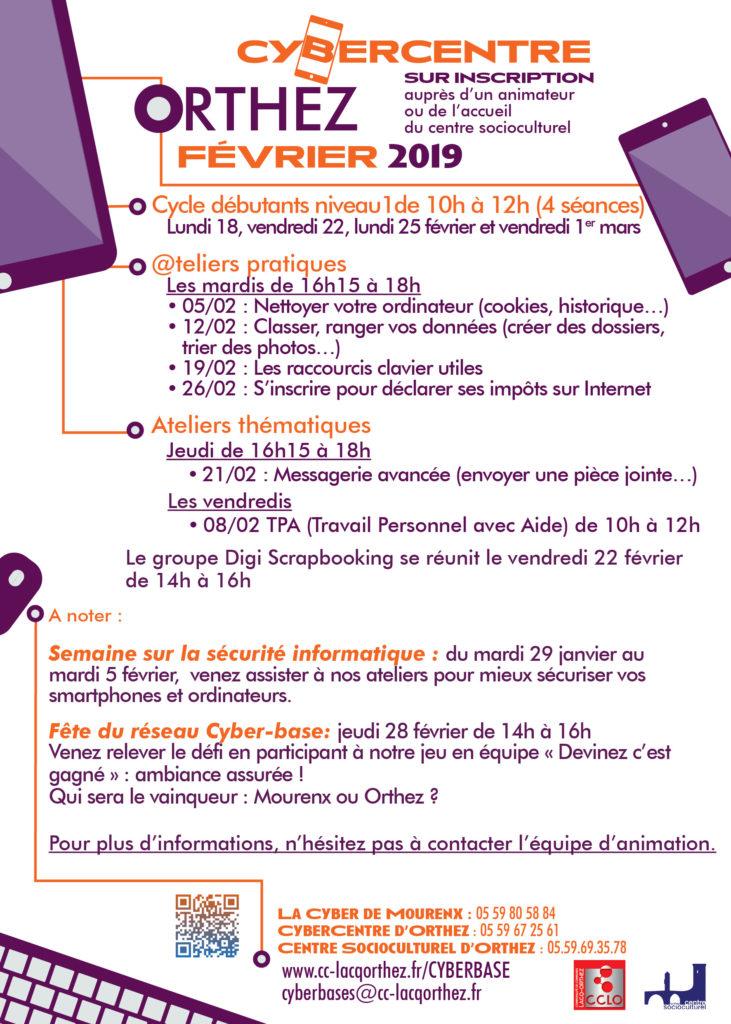 Ateliers février 2019 Orthez